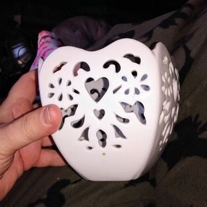 💚Heart Cut Out Candy Dish or Candle Holder